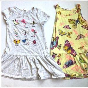 H&M Girls SZ 4-6 {Lot of 2} Cotton Summer Dresses